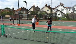 Junior coaching at St Johns Tennis Club